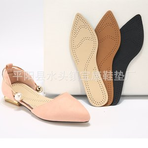 Spring decompression high heel insole top layer leather paste latex women's shoes accessories