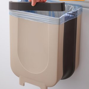 Waste Bins Creative Wall Mounted Trash Bin Bedroom Portable Kitchen Can Practical Simply Cubo Basura Household Products DI50LJT