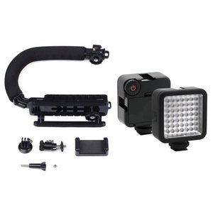 Type Monopod Handheld Camera Stabilizer Holder Grip Flash Bracket Mount Adapter With Bright LED Video Light 49 Stabilizers