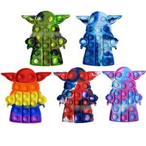 Большой размер FIDGET игрушки Rainbow Push It Bubble Iss Residence Игрушка для детей Подарки Мягкие сжатия
