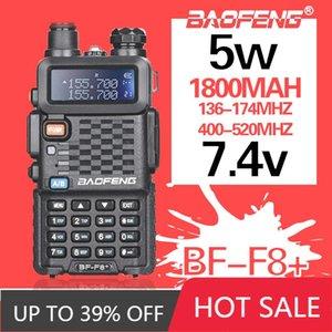 Walkie Talkie 2021 Baofeng BF-F8 + 양방향 자동차 라디오 방송국 휴대용 햄 업그레이드 5W UHF VHF 듀얼 밴드