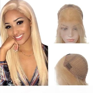 #613 Long Straight Remy Human Hair 13*4 Lace Front Wigs Hot Selling Full head Set 100% Virgin Brazilian Hair Fashion Style Adjustable Cap