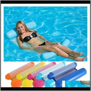 Party Favor Summer Inflatable Floating Row Float Mattresses Beach Foldable Swimming Pool Fruit Chair Hammock Water Sport Mattress1 Rhn 8Shzt
