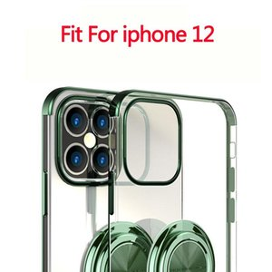 For Iphone 12 Cases Fashion Phone Clear Case with Ring Holder Kickstand for Iphone 12promax 12max Pro 11 Promax 11pro