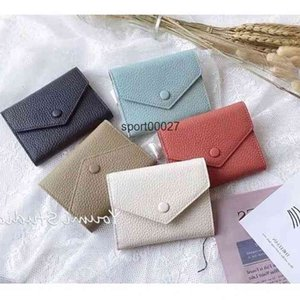 Leather Wallet for women multicolor coin short purse lady Card holder classic mini zipper pocket Wholesale