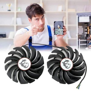 Par de fans de enfriamiento de tarjeta gráfica PLD10010B12HH FANS GTX1080TI para MSI 1070 1080 480 RX470 1060 R2G2 Padop portátiles