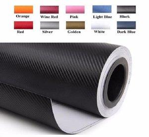 Carbon Fiber Vinyl Film Car Sticker Waterproof DIY Car Styling Wrap roll sticker 127CMx30CM hot sellingfree free