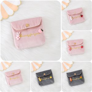 Aunt Ins Towel Storage Box Small Portable Lovely Toilet Cotton Monthly Menstrual Bag SQZQ