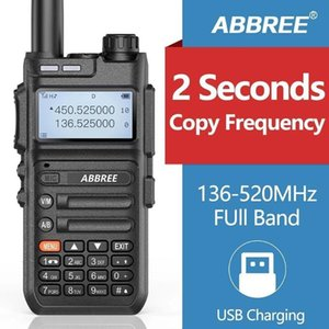 Walkie Talkie ABBREE AR-F5 8W 2 Seconds Automatic Pairing Frequency Full 136-520MHZ Walkie-talkie Handheld Outdoor Chinese English