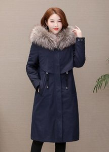 Women Winter Jacket Ladies Real Raccoon Fur Collar Duck Down Inside Warm Coat Femme With All The Tag popular style