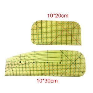 Ironing Ruler Patchwork Tailor Craft DIY Measuring Sewing Tool Crimping Clip 4X7B Notions & Tools