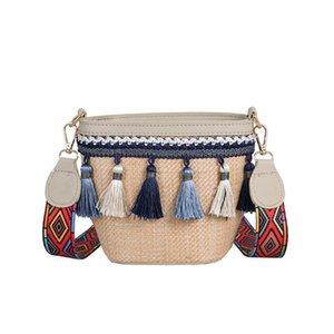 Designer luxury bagWomen Bag Crossbody Messenger Straw Bag Vintage Beach Ethnic Style Ribbon Tassel Wild Simple Casual Tassel Temperament