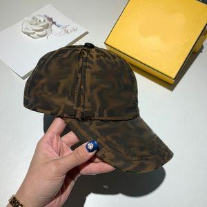 Cappello del designer con la lettera F New Versatile Coppia di tela Cappello da uomo e da baseball da uomo e da baseball