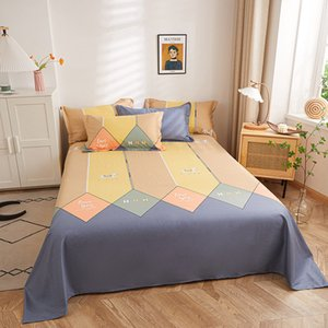 Nordic Simple Single 200x230cm Double Bed All Cotton Sheet Student Dormitory Upper and Lower 1.2