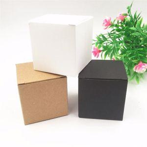 50pcs Per Lot Kraft White black Heart Shaped Window Cupcake Boxes Wedding Chocolate Packing Party Single Candy cooki jllkfI U4W1