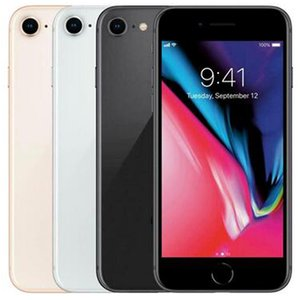 Refurbished Original Apple iPhone 8 4.7 inch Fingerprint iOS A11 Hexa Core 2GB RAM 64 256GB ROM 12MP Unlocked 4G LTE Phone Free DHL 30pcs