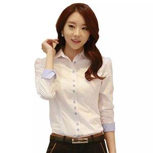 Spring Women Shirt Buttons Lapel Light Color Blouse Show Thin Comfortable Large Size OL Professional Clothing DD2429 Women's Blouses & Shirt