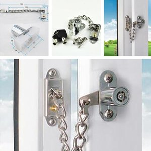Carriers, Slings & Backpacks Silver Stainless Steel Window Chain Lock Guard Door Restrictor Child Safety Security With Key Set
