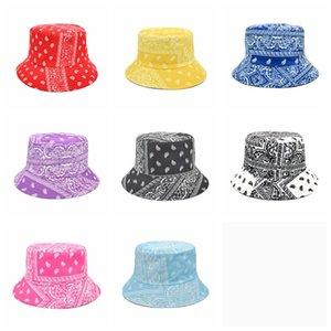 حوض قبعات مزدوجة من جانب رجل النساء المطبوعة الصياد قبعة واقية من الشمس uv تنفس شطف القبعات الربيع الصيف واسعة بريم كاب YL616