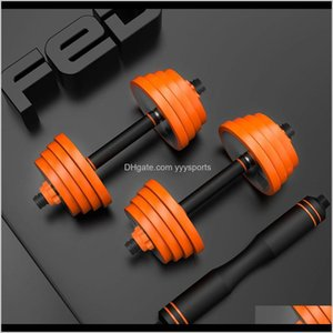 Barbells Equipments Supplies & Outdoors Drop Delivery 2021 Fed Pure Steel Home Dumbbell Barbell Multifunctional Outdoor Sports Fitness Equipm
