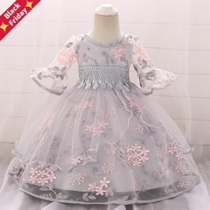 Summer Clothes Baby Girl Dress Long Sleeve 2 1st Birthday For Frock Party Princess Baptism Infant Flower Girl's Dresses