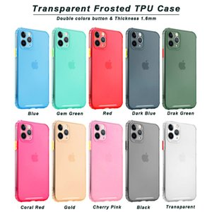 Hybrid Candy Color Frost Frost Macio TPU Capa de Captura à prova de choque para iphone 12 mini 11 pro max xr xs x 8 7 samsung s10 s20 fe s21 ultra a02 A02S A11 A71 A21S A51 A71 5G A10S A20S