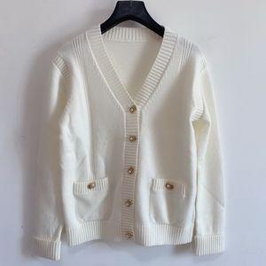 Winter Cardigan Women Sweater Wool Blended High Elastic Blouse Women Knitwear Ladies Knitted Top Casual Coat V Neck Cardigan Pocket Desig-3