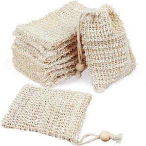 Sac de savon de bain de bain DHL gratuit Faire des bulles économiseur de sacs sacs de rangement Sacs de rangement de coton Support de nettoyage de draps