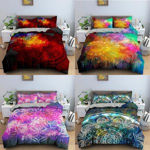 Floral Bedding Sets Colorful Mandala Comforter Cover Duvet Bed Linen Bedclothes Twin Queen King Size Room For Kids