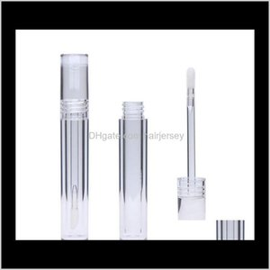 Packing Bottles 5Ml Lipgloss Round Transparent Gloss Tubes With Wand Empty Clear Lipstick Lip Glaze Tube Wholesale Iwn3J Rkano