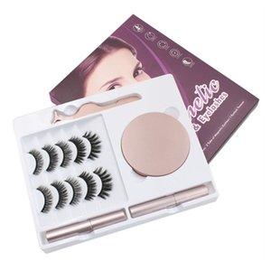 7 Pairs 3D Magnetic Eyelashes False Lashes +2 pcs Liquid Eyeliner +Tweezer eye makeup set Natural reusable item OTTIE HIGH