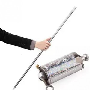 110CM length Appearing Cane silver cudgel metal magic tricks for professional magician stage street close up illusion