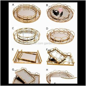 Other Table Accessories Tray Decoration Flexible Design Model Room El Club Receipt Modern Simple Metal Mirror Pallet 3Bcw6 P0F9W