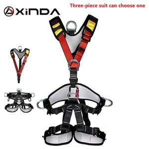 XINDA Professional Rock Climbing Harnesses Full Body Safety Belt Anti Fall Removable Gear Altitude Protection Equipment 3-piece Q1118