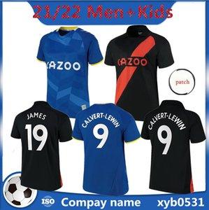 Everton FC Soccer Jerseys Calvert-Lewin 21 22 Richarlison Sigurdsson جيمس ألان كرة القدم قميص بيكفورد أسود أخضر حارس مرمى Y.Mina رجل جيرسي و Kids Kit