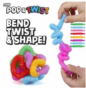 DIY Creative Fidget Toys круг красочные пластиковые трубки катушка детские забавные игрушки ранняя образовательная складная игрушка DHL CJ11