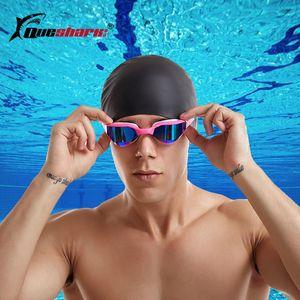 Profesyonel Yarış Yüzme Gözlük Kaplama Anti-Fog HD Rekabet Yüzmek Gözlük Ultralight UV400 Yarışması Yüzme Gözlük