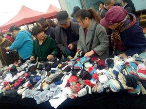 10 yuanes por paquete de calcetines de algodón de primavera y otoño de invierno de invierno vendidos en paquetes