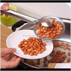 Cooking Utensils Stainless Steel Multifunctional Spoon With Clip Food Frying Salad Bbq Filter Clamp Strainer Kitchen Accessories Bh239 U3Lwp