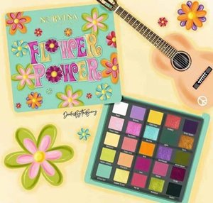 FLOWER POWER eyeshadow 25 colors Matte pearly shimmering sequins Multi-color easy to apply makeup lasting NORVINA waterproof eyeshadows