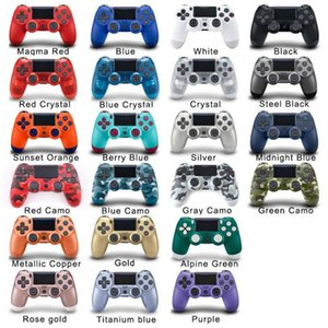 Wireless Bluetooth PS4 Game Controllers 22 Colors For Sony Play Station 4 Games System In Retail Box DHL Free Ship