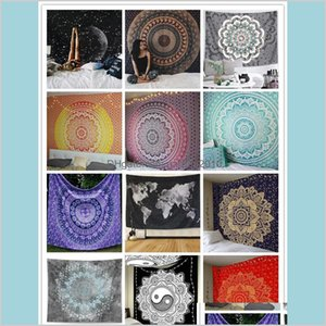 Tapestries Home Décor & Garden Polyester Wall Hanging Decor Tapestry 21 Designs Bohemian Mandala Beach Towels Hippie Throw Map Yoga Ma