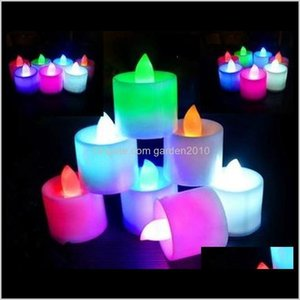 Candles Multicolor Electronic Led Simulation Light Birthday Wedding Flameless Flashing Candle Plastic Home Decoration Bnwgj Q3Yfe