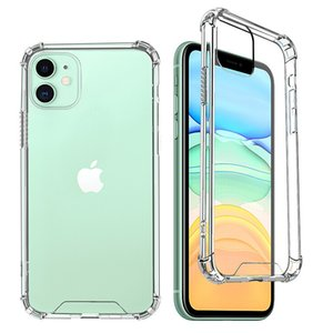 1.5MM Clear Acrylic TPU Hard Phone Cases For iPhone 11 Pro Max 12 mini XS XR X 6 7 8 Plus SE Samsung Galaxy S20 S21 Ultra A12 A52 A72 Z Flip 5G A32 4G Transparent Thick Back Cover