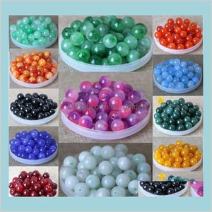 Arts Crafts Gifts Home Garden Mix 25 Colors Teal Pearl Spacer Loose Beads Floating Charms Jewelry Necklace Bracelet Making 8Mm 1000Pcs