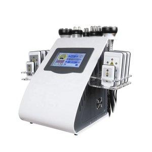 6 In 1 40k Cavitation Slimming Machine Ultrasonic Vacuum RF Lipo Laser 8 Pads LLLT Lipolysis 635nm 650nm Fat Burning Body Shaping Beauty Instrument