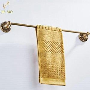 Towel Racks Black Hanger Rails Bars Brass Wall Mounted Single Bar Holder Luxury Rack Bathroom Accessories
