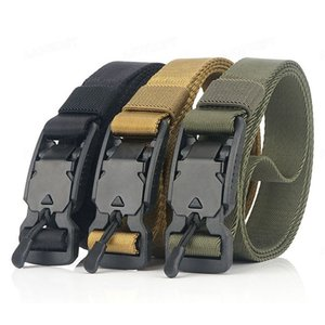 AJOTEQPT Military Tactical Nylon Thin Belt Convenient Quickly Unlock Hunting Male Metal Buckle Belts For Outdoor