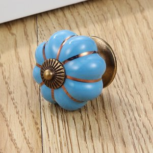 4*4*4 Cm Kitchen Cabinets Knobs Bedroom Cupboard Drawers 7 Colors Ceramic Door Pull HHA5083