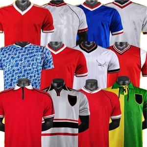 مانشستر ريترو لكرة القدم جيرسيز مان 90 91 92 UTD United Men Football CHirt 83 84 85 86 88 98 99